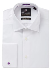 Skopes Slim Fit Oxford Type Cotton Shirt White