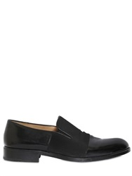 Dries Van Noten Brushed Leather And Grosgrain Loafers
