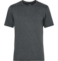 Nike Training Breathe Melange Dri Fit T Shirt Charcoal
