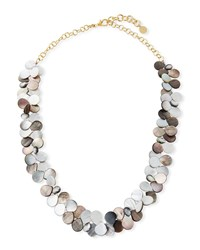 Nest Mother Of Pearl Cluster Strand Necklace Gray