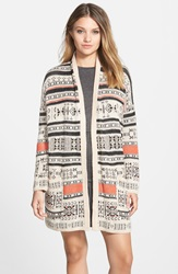 Billabong Southwest Knit Cardigan Oatmeal Heather