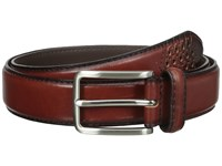 Stacy Adams 32Mm Full Grain Leather Top W All Leather Lining Cross Stitch Perforated Tip Cognac Belts Tan