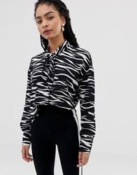 Minimum Moves By Zebra Stripe Shirt Multi
