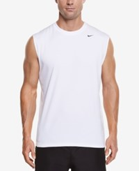 Nike Men's Hydro Performance Upf 40 Swim Shirt White