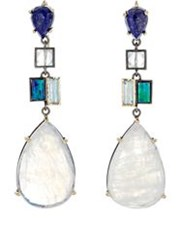 Nak Armstrong Women's Mixed Gemstone Drop Earrings Colorless