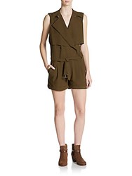 Haute Hippie Trench Belted Romper Fatigue