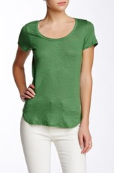 Weston Wear Bree Linen Blend Scoop Neck Tee Green