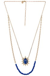 Rebecca Minkoff Burst Double Row Necklace Metallic Gold