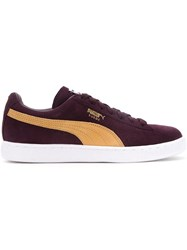 Puma Classic Lace Up Sneakers Pink And Purple