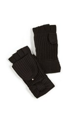 Kate Spade New York Solid Bow Pop Top Mittens Black