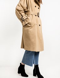 Pixie Market Tan Oversize Belted Trench