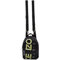 Kenzo Black Mini Reflective Logo Backpack