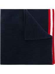 Bally Ribbed Knit Scarf Blue