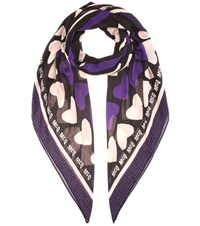 Mcq By Alexander Mcqueen Printed Scarf Black