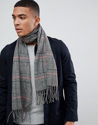 New Look Scarf In Black Check Black Pattern
