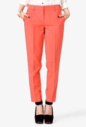 Forever 21 Knit Skinny Pants Coral
