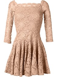 Plein Sud Jeans Plein Sud Off Shoulder Lace Dress Nude And Neutrals