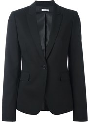 P.A.R.O.S.H. Fitted Single Breasted Blazer Black