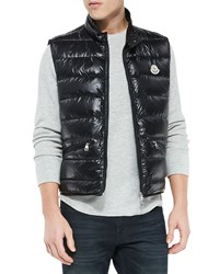 Moncler Gui Quilted Puffer Vest Black