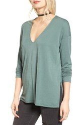 Lush Women's High Low Tee Pine