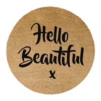Artsy Doormats Hello Beautiful Door Mat Round