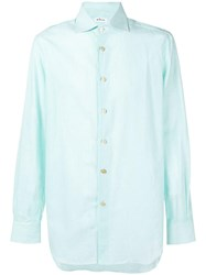 Kiton Plain Button Shirt Green