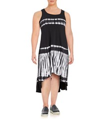Marc New York Performance Tie Dye Hi Lo Maxi Dress Black White