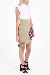 Monse Women S Cotton Canvas Skirt Boutique1 Beige