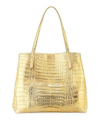 Nancy Gonzalez Large Metallic Crocodile Shoulder Tote Bag Multi