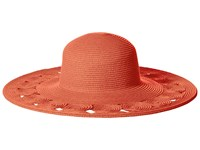 San Diego Hat Company Ubl6481 Ultrabraid Sun Brim Hat With Open Weave Circular Details Coral Caps
