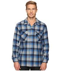 Pendleton L S Board Shirt Blue Grey Mix Ombre Men's Long Sleeve Button Up