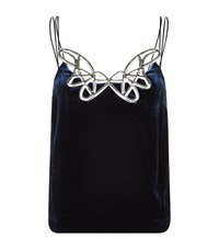 Pinko Laguna Velvet Top Female Midnight