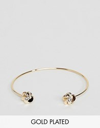 Ted Baker Rose Gold Flower Cuff Bracelet Rose Gold