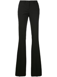 Philipp Plein Fitted Flared Trousers Women Cotton Polyester Spandex Elastane L Black