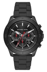 Michael Kors Theroux Silicone Bracelet Watch 45Mm
