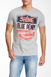 Shine Graphic Print Tee Gray