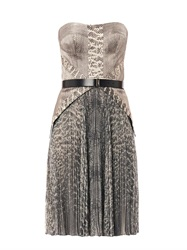 Jason Wu Snake Print Strapless Dress
