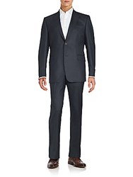 Ermenegildo Zegna Two Piece Jacket And Pant Suit Set Charcoal