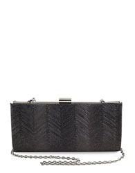 Sondra Roberts Metallic Wave Clutch Pewter