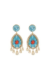 Shourouk Suma Earrings Blue