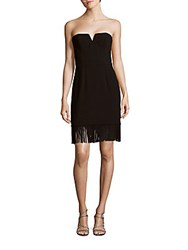 Aidan Mattox Strapless Solid Sheath Dress Black