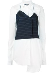 Jacquemus Pinstriped Vest Shirt Dress White