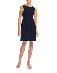 Vince Camuto Embellished Fit And Flare Dress Navy
