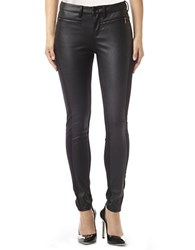 Buffalo David Bitton Fina Coated Denim And Ponte Skinny Jeans Black