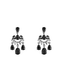Carolee Mini Chandelier Drop Earrings Hematite