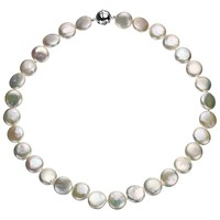 A B Davis Cultured River Pearl Coin Necklace White