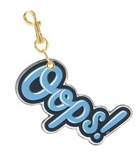 Anya Hindmarch Oops Leather Key Charm Blue