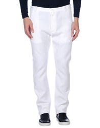 Dirk Bikkembergs Sport Couture Casual Pants White