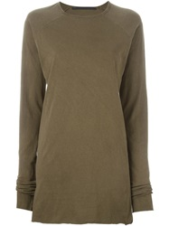 Haider Ackermann Raw Finishing Long Sleeve T Shirt Brown