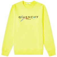 Givenchy Rainbow Logo Crew Sweat Yellow